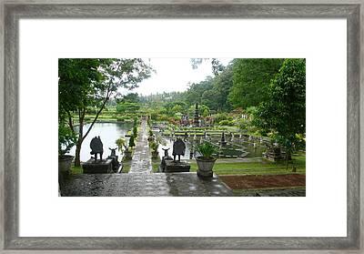 Bali Lake Side Framed Print by Jack Edson Adams