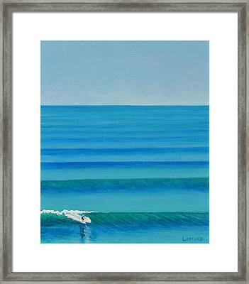 Bali Lines Framed Print by Nathan Ledyard