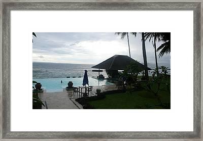 Bali Pool By The Ocean Framed Print by Jack Edson Adams