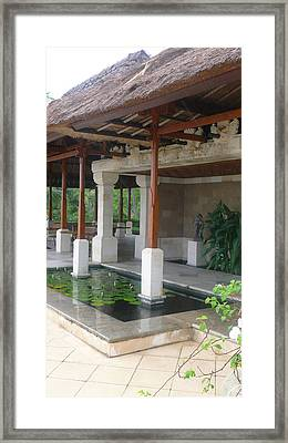 Bali Pool Under Roof Framed Print by Jack Adams