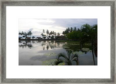 Bali Reflections In The Bay Framed Print by Jack Adams