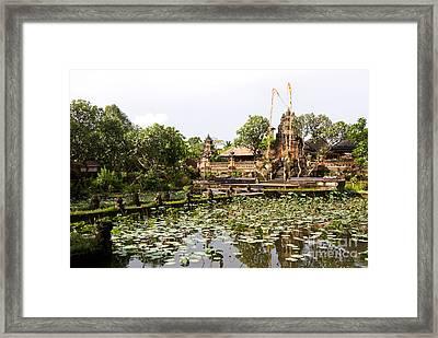 Bali Saraswati Temple 01 Framed Print by Rick Piper Photography