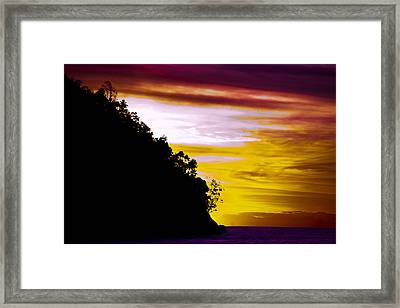 Bali Veiw Framed Print by Terry Cosgrave