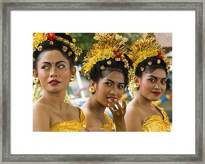 Balinese Dancers Framed Print by David Smith