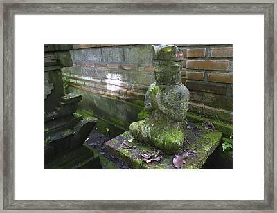 Balinese Praying Figure Framed Print