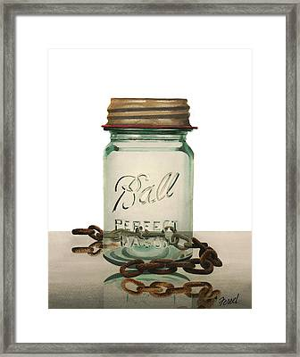 Framed Print featuring the painting Ball And Chain by Ferrel Cordle