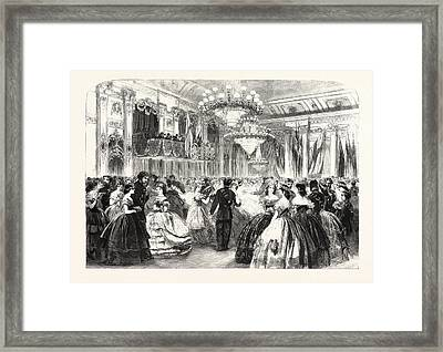 Ball At Williss Rooms Given By The St Framed Print