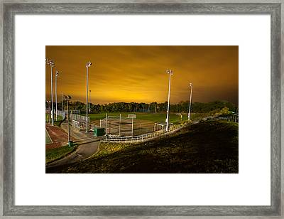 Ball Field At Night Framed Print