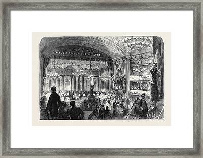 Ball Given In The Theatre At Antwerp On The Occasion Framed Print