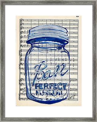 Framed Print featuring the painting Ball Jar Classical #119 by Ecinja Art Works