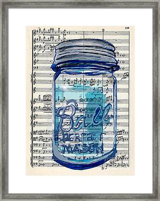 Framed Print featuring the painting Ball Jar Classical  #129 by Ecinja Art Works