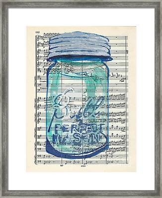 Framed Print featuring the painting Ball Jar Classical  #132 by Ecinja Art Works