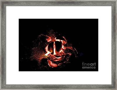 Ball Of Fire Framed Print by Bobby Mandal