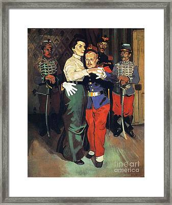 Ball Of Soldiers In Suresnes Framed Print by Pg Reproductions