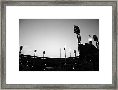Ball Park Silhouette Framed Print