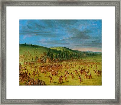 Ball-play Of The Choctaw--ball Up Framed Print