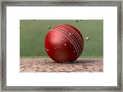 Ball Strike Framed Print
