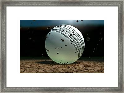 Ball Striking Bounce Framed Print by Allan Swart