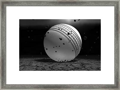 Ball Striking Ground Framed Print