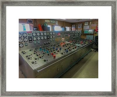 Ballast Control Panel Of The Ocean Valiant Semi Submersible Drilling Rig Framed Print