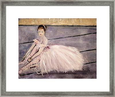 Ballerina Framed Print by Aleezah Selinger