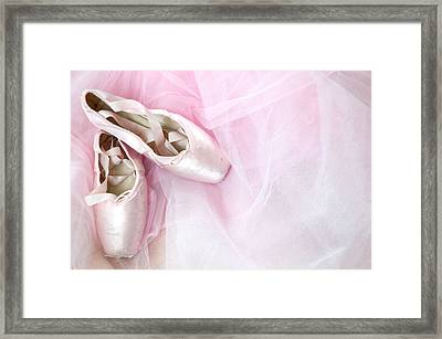 Ballerina Dreams Framed Print by Zina Zinchik