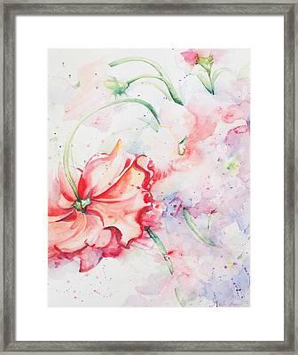Ballerina Flowers Framed Print