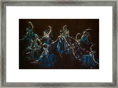 Ballerina Ghosts Framed Print by Jani Freimann
