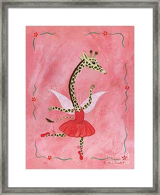 Ballerina Giraffe Girls Room Art Framed Print by Kristi L Randall Brooklyn Alien Art