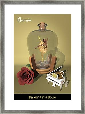 Ballerina In A Bottle - Georgia Framed Print by Alfred Price