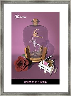 Ballerina In A Bottle - Heaven Framed Print by Alfred Price