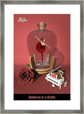 Ballerina In A Bottle - Kiko Framed Print by Andre Price