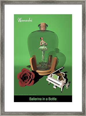 Ballerina In A Bottle - Nanashi Framed Print by Alfred Price