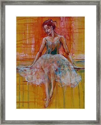 Ballerina In Repose Framed Print by Jani Freimann
