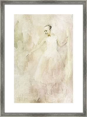 Framed Print featuring the painting Ballerina by Linda Blair
