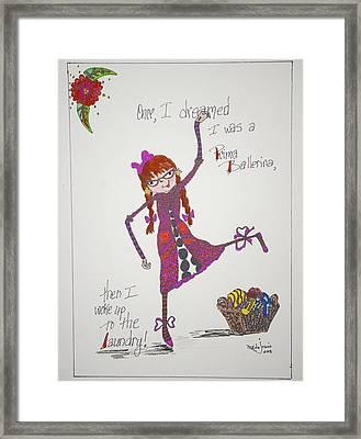 Ballerina Framed Print by Mary Kay De Jesus