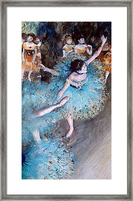 Ballerina On Pointe  Framed Print by Edgar Degas