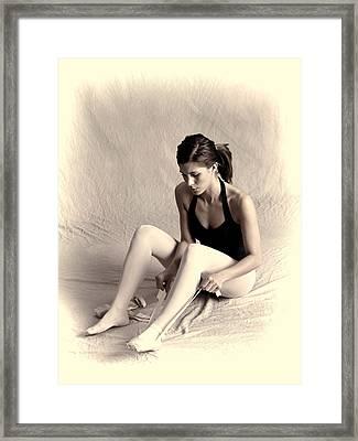 Ballerina Framed Print