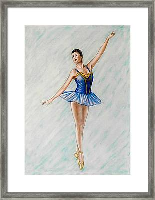 Ballerina Portrait Painting  Framed Print by Luigi Carlo
