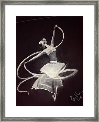 Ballerina Framed Print by Renee Michelle Wenker