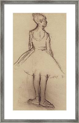Ballerina Viewed From The Back  Framed Print