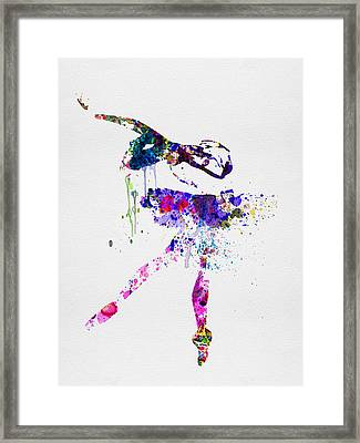Ballerina Watercolor 2 Framed Print by Naxart Studio