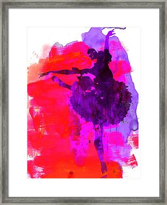 Ballerina Watercolor 3 Framed Print by Naxart Studio