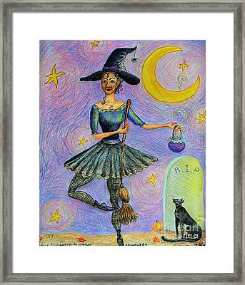 Ballerina Witch Framed Print by Emily Michaud