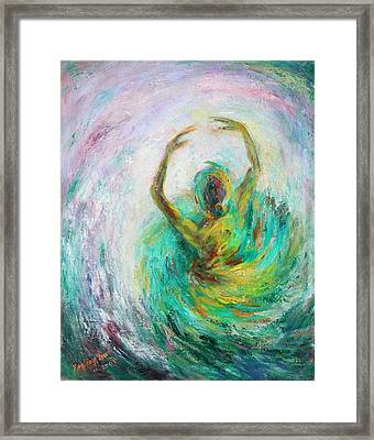 Framed Print featuring the painting Ballerina by Xueling Zou