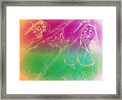Imagine The Crazy Ballerinas Dancing With You  Framed Print by Hilde Widerberg