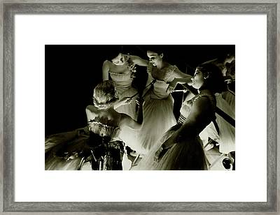 Ballerinas In Radio City Music Hall Framed Print by Remie Lohse