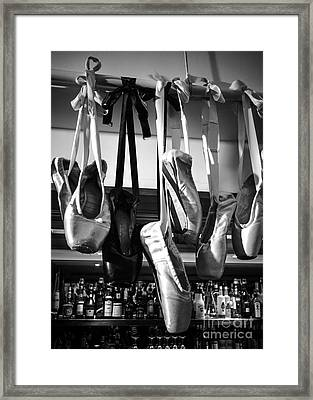 Ballet At The Bar Framed Print by Peta Thames