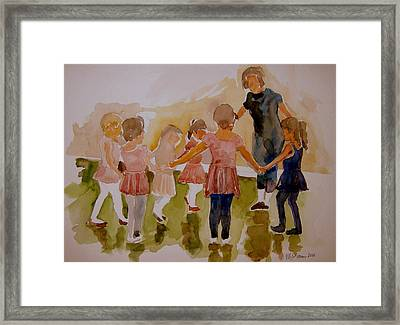 Framed Print featuring the painting Ballet Class by Jeffrey S Perrine