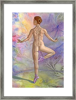 Ballet Dancer In Abstract Framed Print by Paul Krapf
